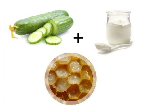 Ингредиенты для питательной маски с маточным молочком