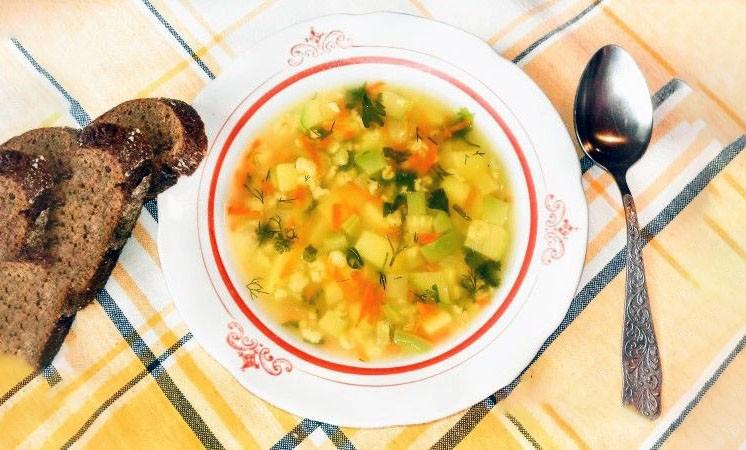 Овощной суп с овсянкой