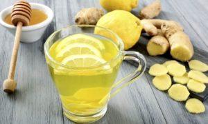 Лимонный напиток с имбирем и медом