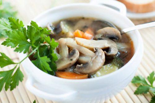 Грибной низкокалорийный суп