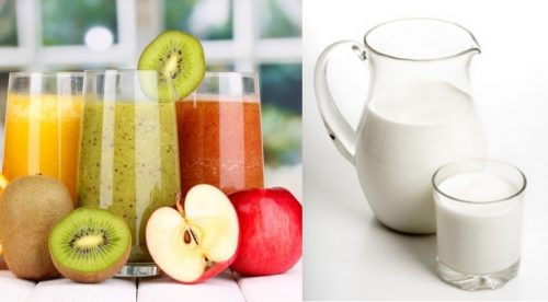 Свежевыжатые соки и молоко