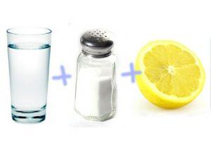 Вода с лимоном и солью